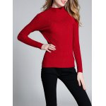cheap Ribbed High Neck Sweater