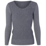 Long Sleeve Fitted Knit Sweater
