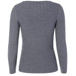 cheap Long Sleeve Fitted Knit Sweater