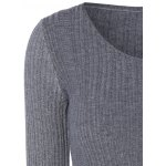 Long Sleeve Fitted Knit Sweater deal