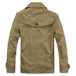 cheap Turndown Collar Double-Breasted Jacket