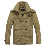 Turndown Collar Double-Breasted Jacket