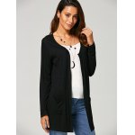 Open Front Pocket Collarless Cardigan deal