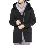 Two Way Zipper Hooded Padded Coat