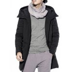 cheap Two Way Zipper Hooded Padded Coat
