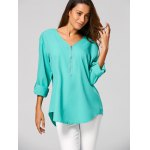 Zippered Loose Blouse deal