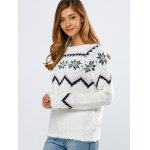 cheap Merry Christmas Snowflake Sweater