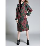 Floral Lapel Longline Coat deal