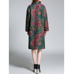 Floral Lapel Longline Coat for sale
