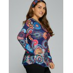 Colorful Abstract Print T-Shirt deal