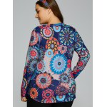 Colorful Abstract Print T-Shirt for sale