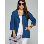 cheap Plus Size Button Embellished Jacket