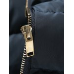 Rib Spliced Stand Collar Padded Jacket for sale