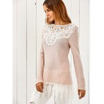 Lace Patchwork Pullover for sale