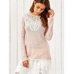 Lace Patchwork Pullover deal