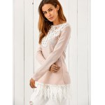 cheap Lace Patchwork Pullover