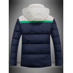 cheap Hooded Color Block Spliced Padded Jacket