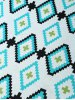 Geometric Pattern Soft Acrylic Knitted Rectangle Blanket for sale