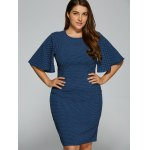 Polka Dot Packet Buttock Plus Size Dress for sale