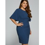 best Polka Dot Packet Buttock Plus Size Dress