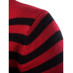 Half Zip Up Stand Collar Striped Sweater deal