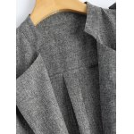 Rolled Cuff Sleeve Plus Size Coat deal