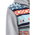 Casual Drawstring Geometric Pullover Hoodie deal