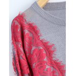 best Lace Applique Pullover Sweater