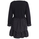 cheap Polka Dot Splicing Plus Size Dress