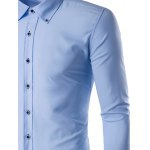 Male Slim Fit Long Sleeve Button Down Collar Formal Shirt deal