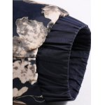 Stand Collar Florals Print Splicing Zip-Up Padded Jacket photo