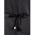 Drawstring Hooded Coat with Pockets for sale