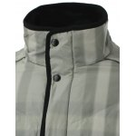 Stand Collar Zip-Up Striped Quilted Jacket for sale