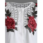Openwork Rose Embroidery Blouse deal