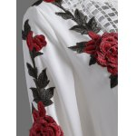 Openwork Rose Embroidery Blouse for sale