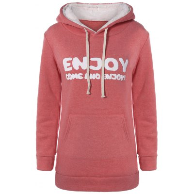 Thick Letter Pocket Hoodie
