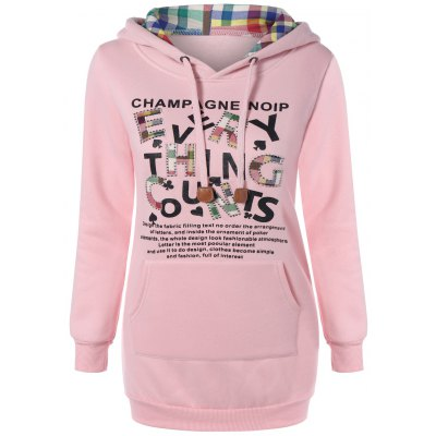 Embroidered Letter Pocket Hoodie