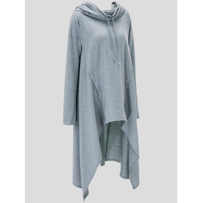 Drawstring Asymmetric Longline HoodiePlus Size Outerwear<br>Drawstring Asymmetric Longline Hoodie<br><br>Material: Polyester<br>Package Contents: 1 x Hoodie<br>Pattern Style: Solid<br>Season: Fall, Spring<br>Shirt Length: Long<br>Sleeve Length: Full<br>Style: Fashion<br>Weight: 0.746kg