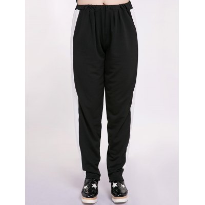 Color Paneled Harem Pants