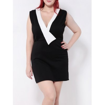 Paneled Mini Pencil Dress