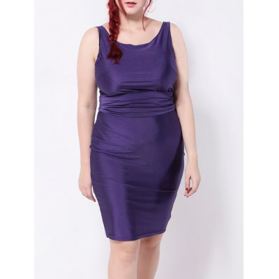 Backless Belted Pencil Dress