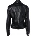 cheap Short Faux Leather Bomber Jacket