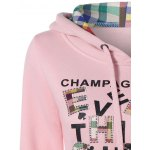 Embroidered Patched  Letter Pocket Hoodie deal