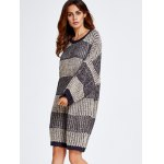 Stripe Thick Winter Casual Jumper Dress deal