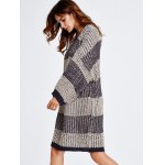 Stripe Thick Winter Casual Jumper Dress for sale