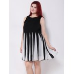 Pleated Patchwork Swing Dress for sale