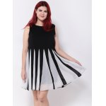 Pleated Patchwork Swing Dress deal