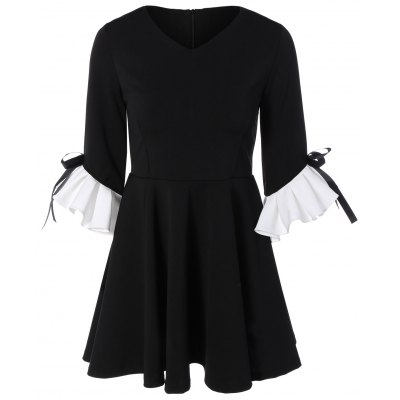 Ruffles Fit and Flare Dress