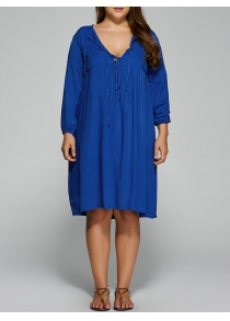 Plus Size Empire Waist Loose-Fitting Dress