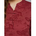 Lotus Pond Jacquard Dress With Chinese Buttons photo